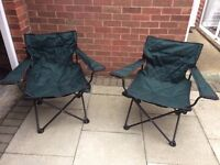 2 Gortex Camping Chairs With Matching Carrier