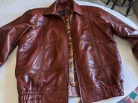 CLAUDE BONUCCI leather jacket, 100% leather, blouson style, super soft leather