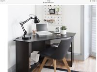 Computer corner desk with office chair black