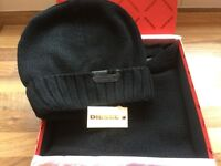 Diesel hat and scarf set (new and in gift box)