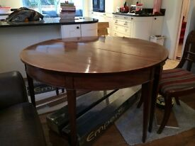 Antique dining table, chairs and cabinet for sale