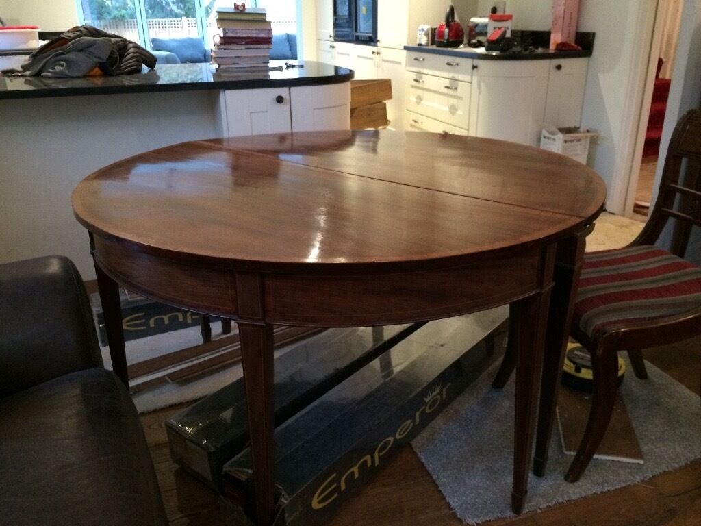Antique Dining Table Chairs And Cabinet For Sale