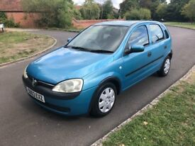 Vauxhall Corsa 1:0, ideal first car, new MOT, 5 door, low miles, AA Cover