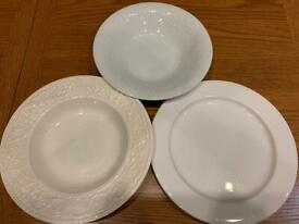 Kitchen tableware clearance white plates