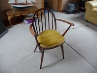 Six Ercol Windsor dining chairs.