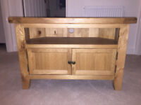 Notcutts Solid Oak Corner TV Stand - Great Condition