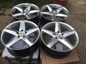 "19"" alloy wheels 5x120 bmw vivaro Vw t5"