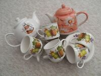 cups saucers and teapots