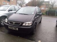 Vauxhall Zafira for sale. Spare or Repairs £200. Collection Only.