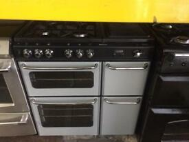 Black & silver stoves 80cm dual fuel cooker grill & fan oven good condition with guarantee