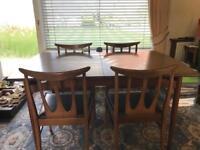 Vintage Retro Teak Dining Table & 4 Chairs