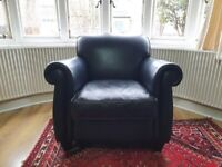 Laura Ashley exmoor leather chair armchair in good used condition.