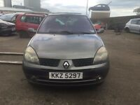 2003 1.5 Diesel Renault Clio. Breaking for parts only. Postage Nationwide.