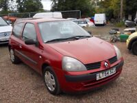 RENAULT CLIO 2004 54 1.2 LTR PETROL ONLY 47000 MILES 1 YEAR FRESH MOT WARRANTIED CLEAN CAR!!!
