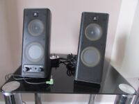 Hi-fi,stereo pllug in small speakers very little use good condition