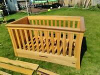 Mamas and papas cot also converts to cot bed