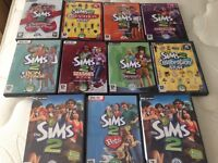 The Sims 2 game and expansion packs