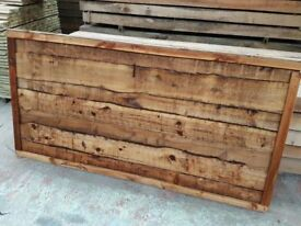 🌟 Superb Quality Heavy Duty Waneylap Timber Fence Panels Pressure Treated Brown 10mm Boards