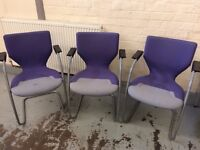 set 3 office chairs