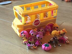 Lalaloopsy Dolls and School Bus For Sale