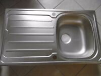 New stainless steel kitchen sink 86x50cm
