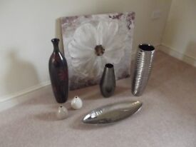 Various vases and picture