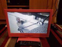 15in pink tv dvd combi