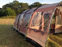 Outwell Arkansas 5 Berth Tent with Carpet, Footprint Sheet, Windbreaker, 2 Double Inflatable Airbeds