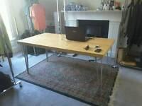 Wood table&Peruvian carpet