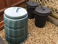 Dustbins and compost bin