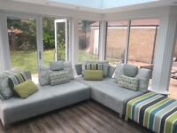 Barker & Stonehouse modular grey sofa unit