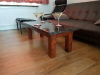 Granite handmade coffee table – Vintage Style Stained ; brand new - made by the seller