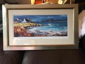 Jean Feeney Arisaig painting framed