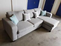 DFS HOUSE BEAUTIFUL LYDIA FABRIC CHAISE END 3 SEATER CORNER SOFA / SETTEE DELIVERY AVAILABLE