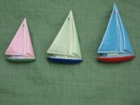 Used, Set of 3 Vintage WADE of Ireland Sailing Boat Ornaments for Only £25.00 for sale  Lewisham, London