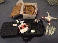 Damaged Phantom Vision 2+ for sale and various accessories.