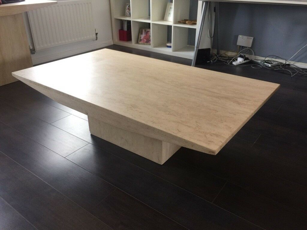 Large Crema Marble Coffee Table