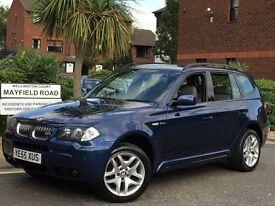 2006 BMW X3 3.0d M SPORT AUTO-TIP *INDIVIDUAL BLUE EDITION SPEC* SAT-NAV LE MANS BLUE IMMACULATE