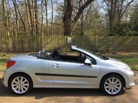 Peugeot 207 CC 1.6 16v GT 2dr hardtop convertible. Brand new MOT, full service history, new tyres.