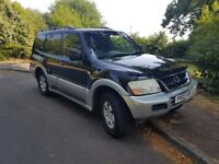 2004 automatic Mitsubishi Shogun 3.2 diesel 7 seater family car with long MOT