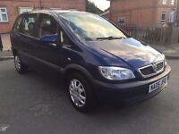 Vauxhall Zafira Design 2005 79200 Miles 12 Months Mot 7 Seater ***Fantastic Offer***