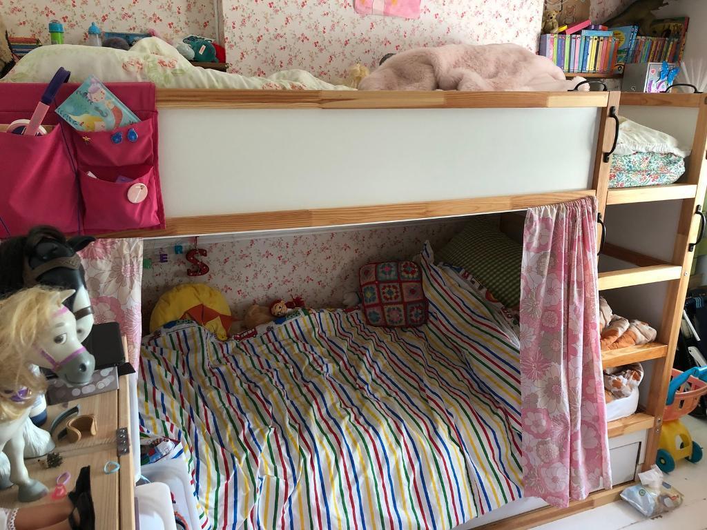 Wooden ikea bunk bed