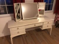 Stag dressing table with triple mirror