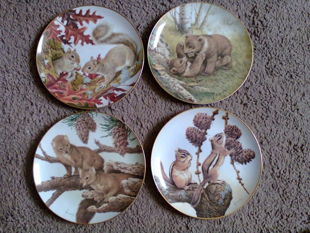 Bradford Exchange Plates - The Forest Year