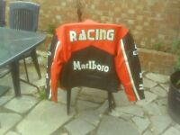 red bull leather motorcycle jacket fit 44 chest .