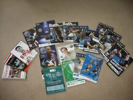 Rugby Programmes (mainly Bath Rugby)