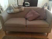 Small beige sofa - perfect for a small space
