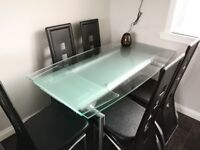 Dining Table & Chairs - Good Condition