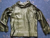 Vintage Gold Tunic Style Long Sleeved Top - Perfect for Stage!