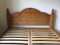 Solid Pine / Real Wood Double Bed Frame